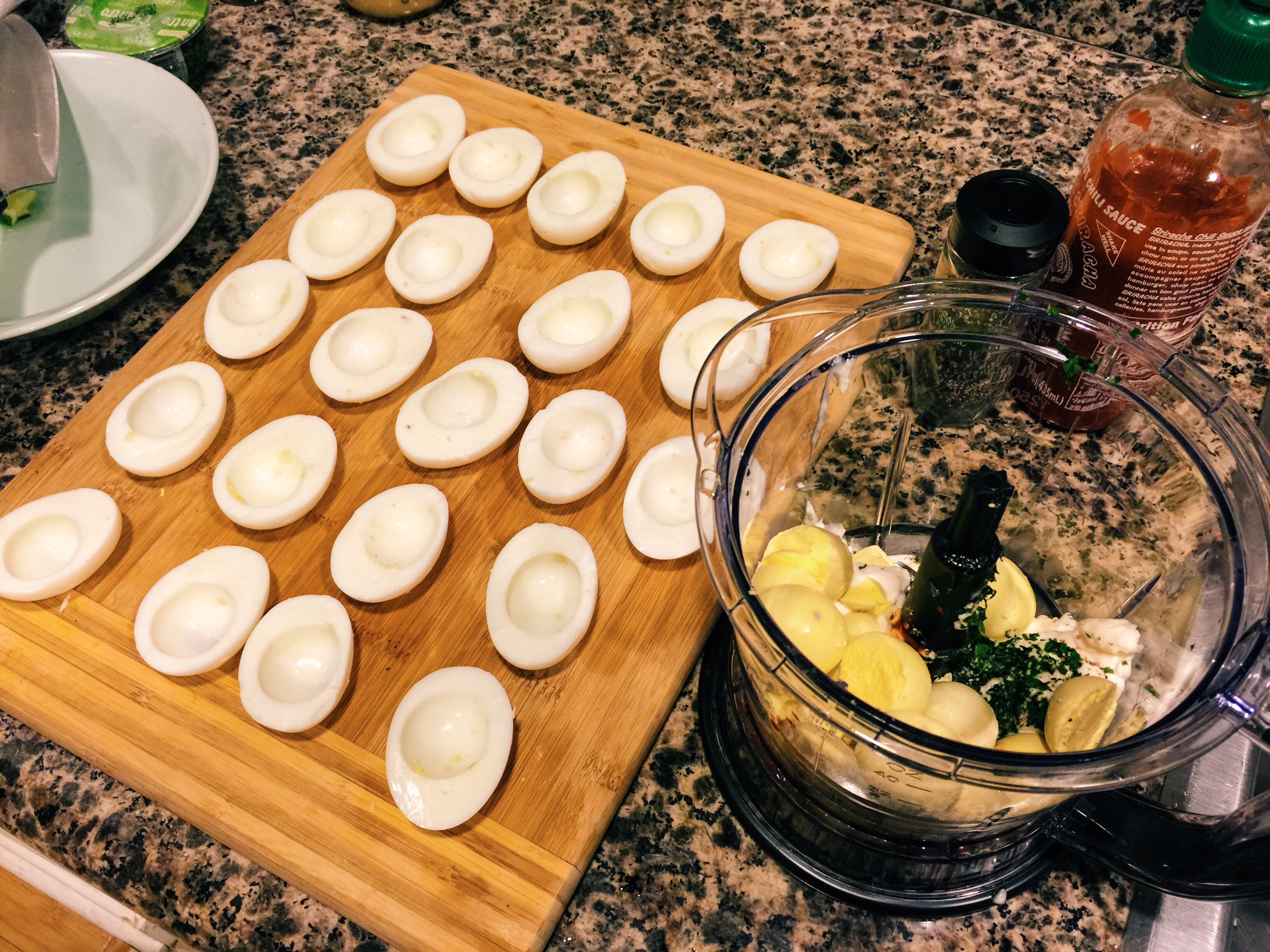 Halved Eggs