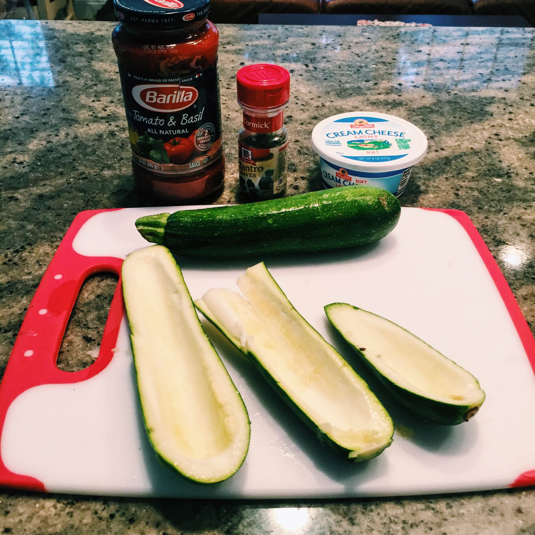 Low carb stuffed zucchini recipe 1