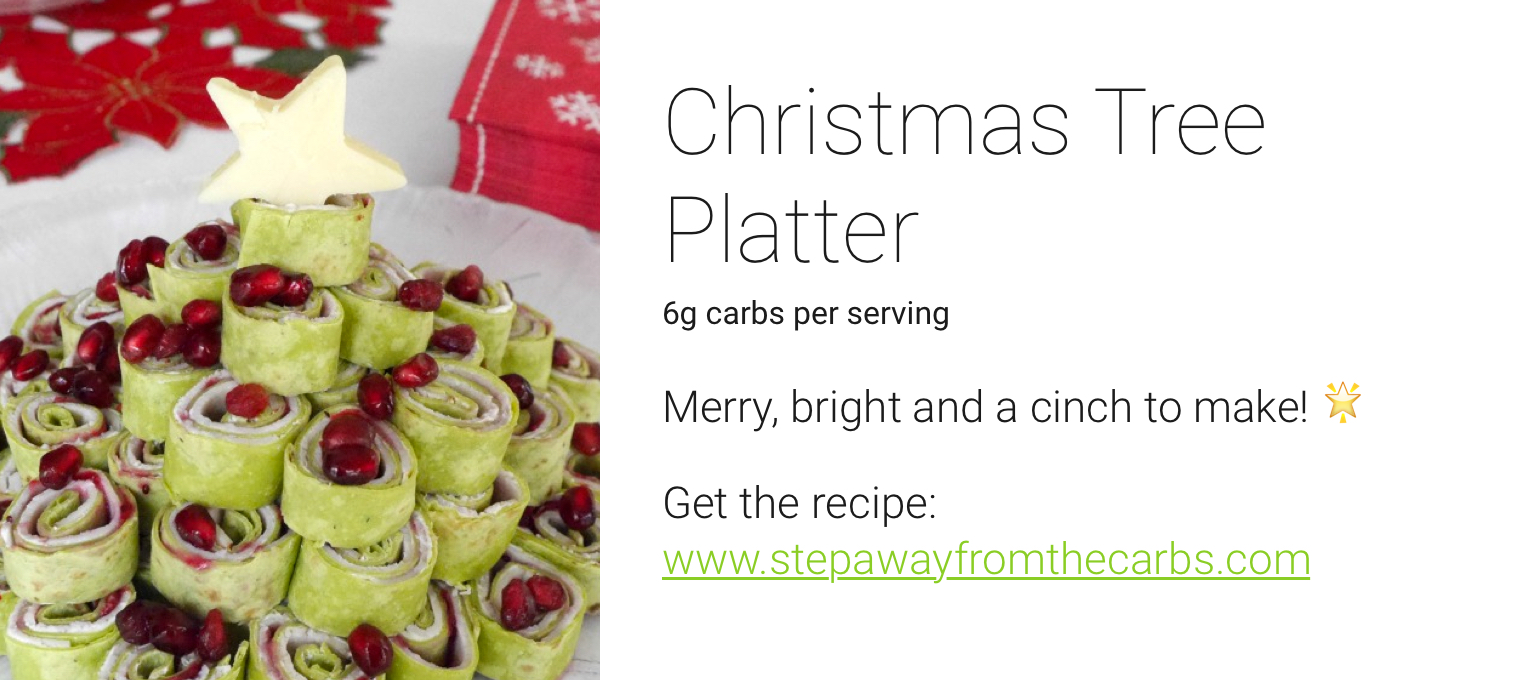 one drop holiday recipes - christmas tree platter
