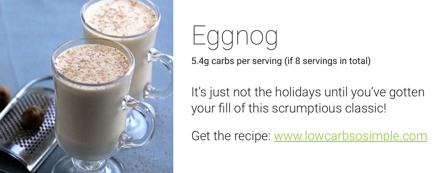 one drop holiday recipes - eggnong