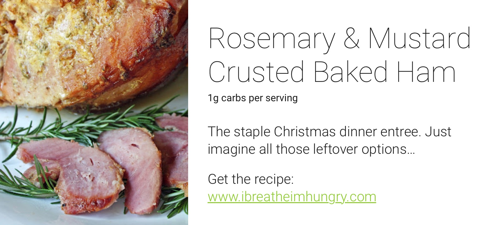 one drop holiday recipes - rosemary baked ham