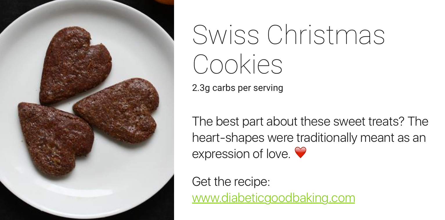 one drop holiday recipes - swiss christmas cookie