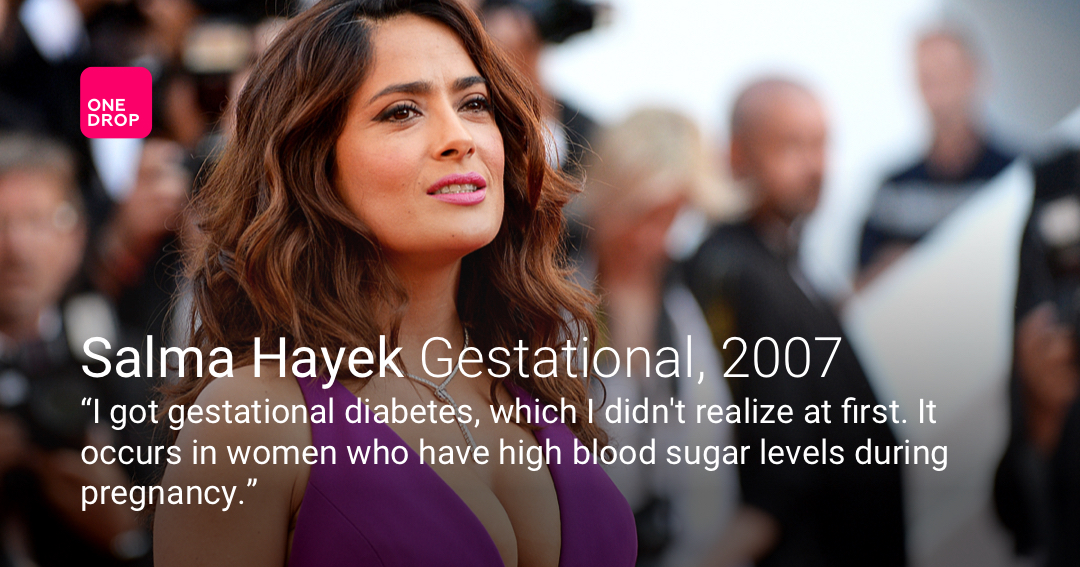 Salma Hayek diabetes - gestational diabetes - Salma Hayek gestational diabetes - women with diabetes - celebrities with diabetes - famous people with diabetes