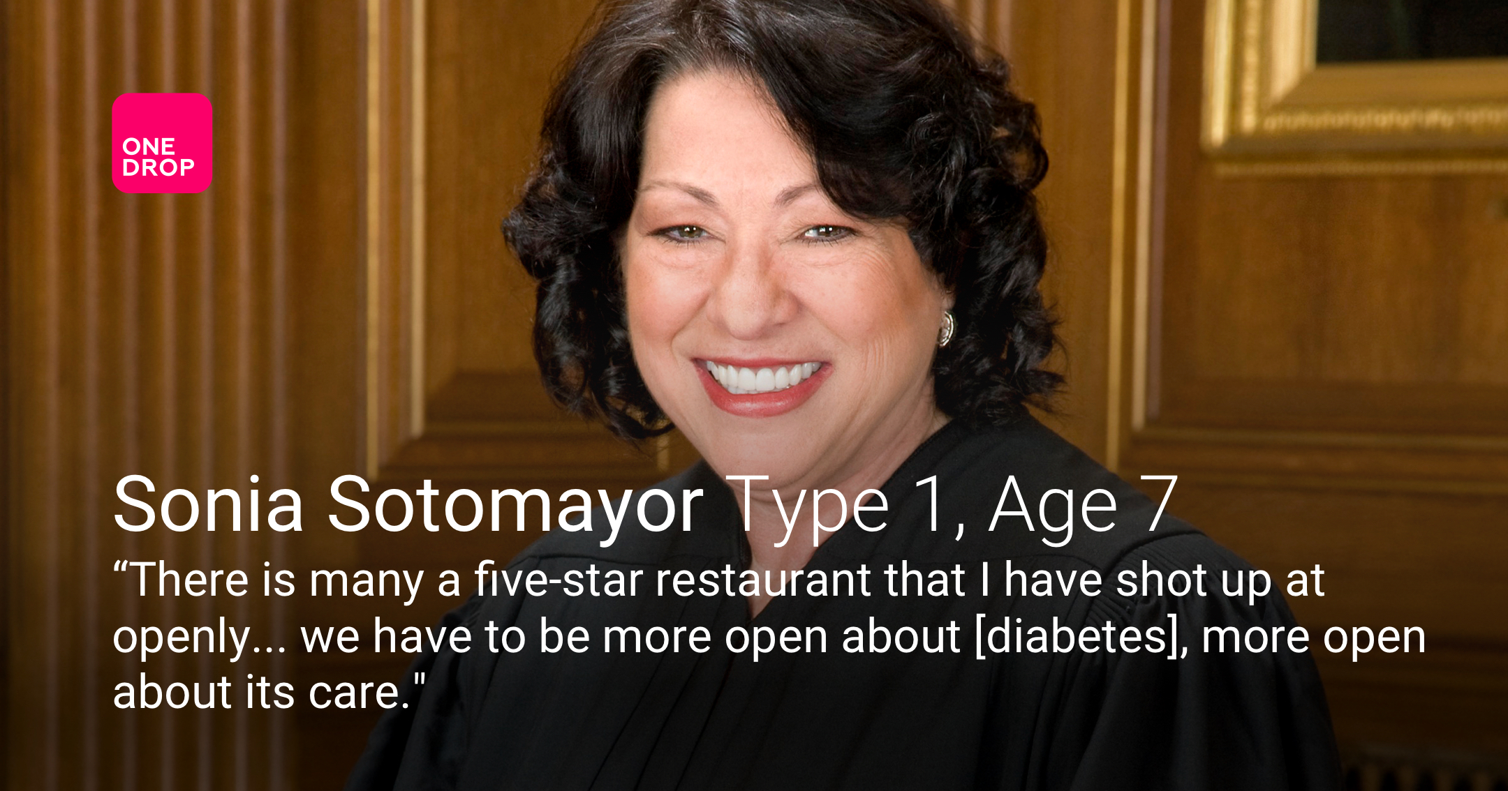 Sonia Sotomayor - Sonia Sotomayor diabetes - Sonia Sotomayor type 1 diabetes - women with diabetes - women with type 1 diabetes - international women's day